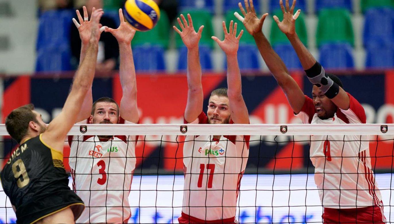 Dawid Konarski, Karol Kłos i Wilfredo Leon (fot. CEV)