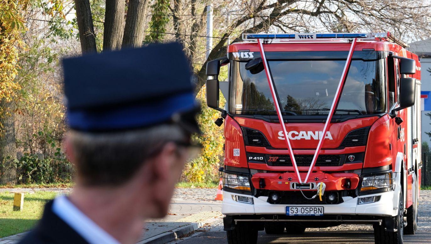 Strażacy z całej Polski biorą udział w największym szkoleniu w kraju (PAP/Andrzej Grygiel)