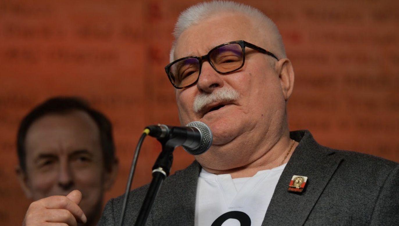 Lech Wałęsa pomieszał cytat biblijny z polskim powiedzeniemi (fot. Artur Widak/NurPhoto via Getty Images)