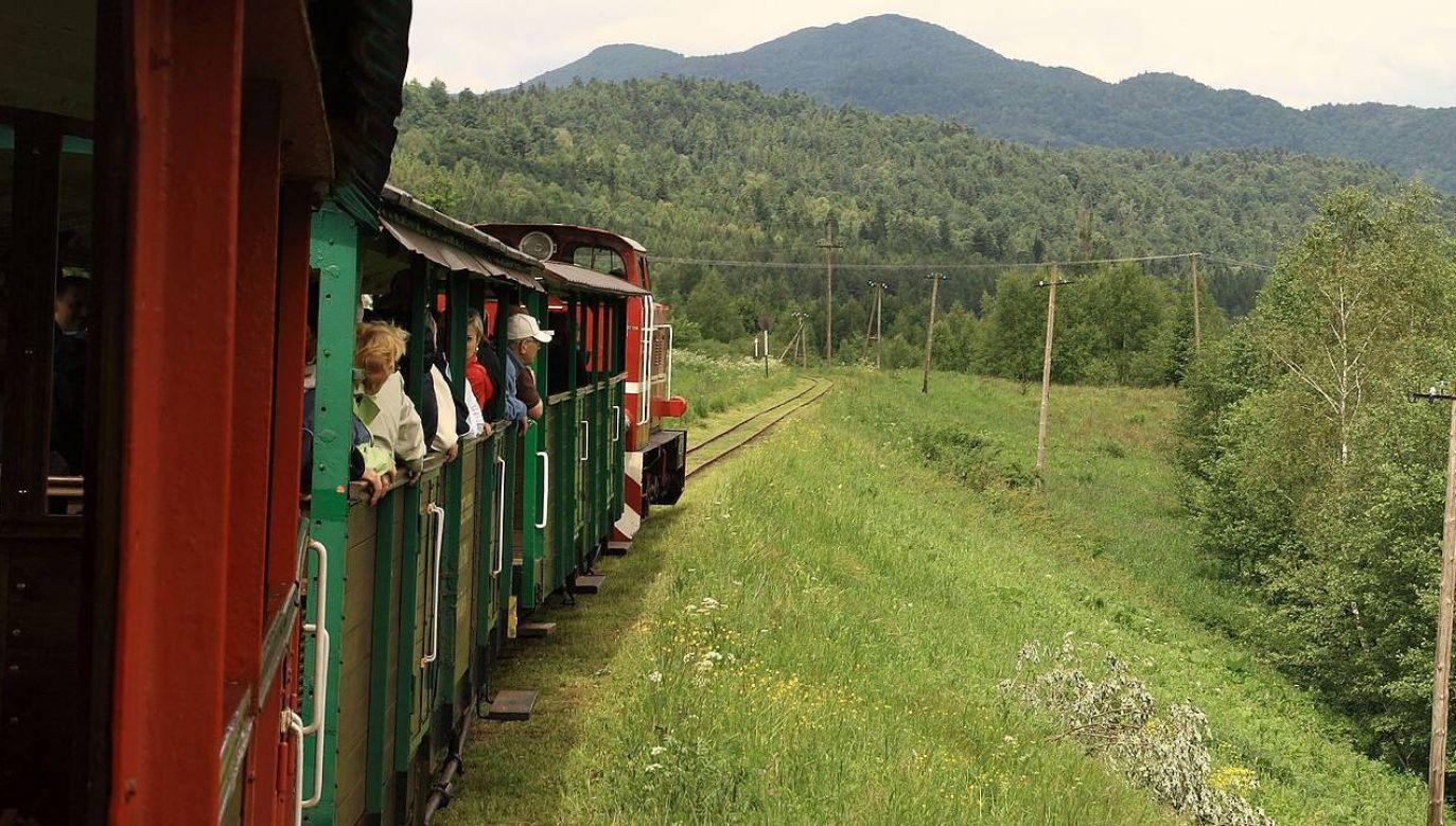 Bieszczadzka Kolejka Leśna to lubiana atrakcja turystyczna (fot. Wiki 3.0/Tomasz Chorwat)