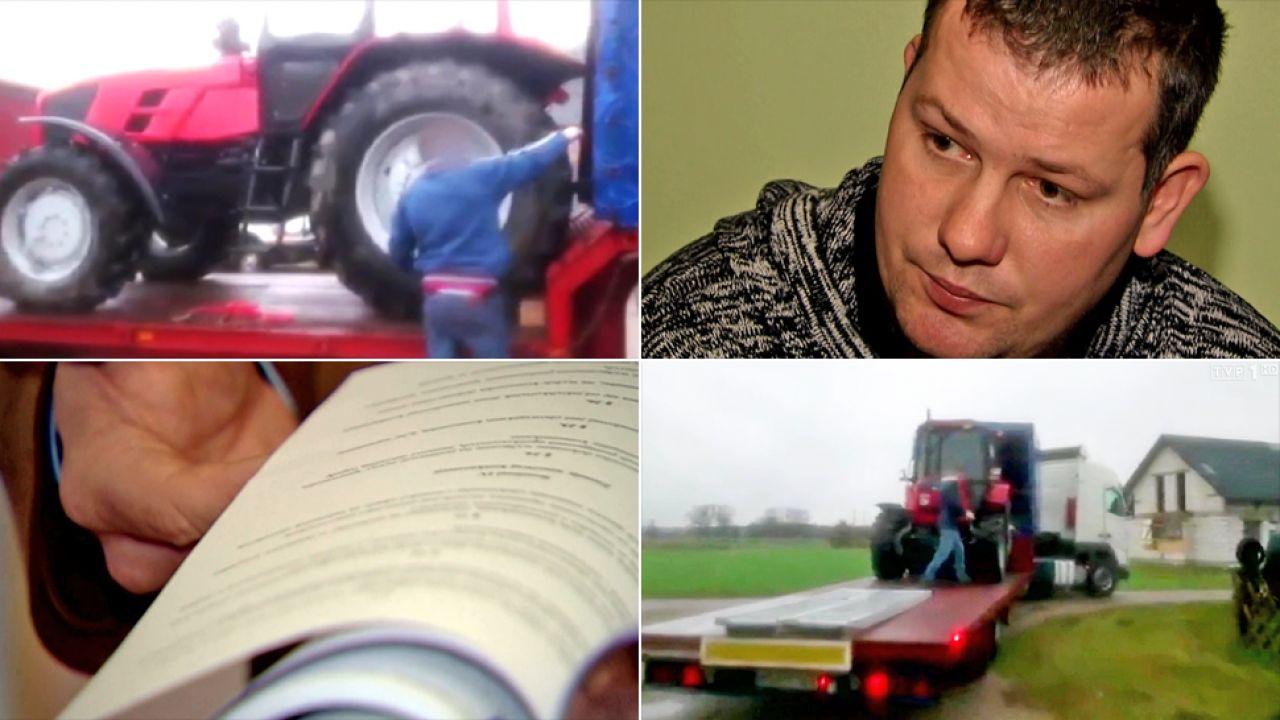 Komornik zabrał rolnikowi ciągnik za długi sąsiada (fot. TVP1)