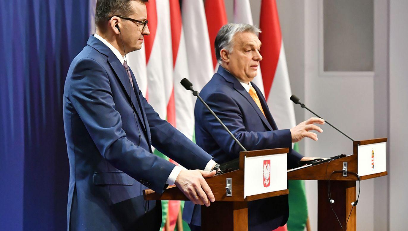 Mateusz Morawiecki podkreśłił, że Polska i Węgry nie zawahają sie użyć weta dla dobra całej UE (fot. PAP/Andrzej Lange)