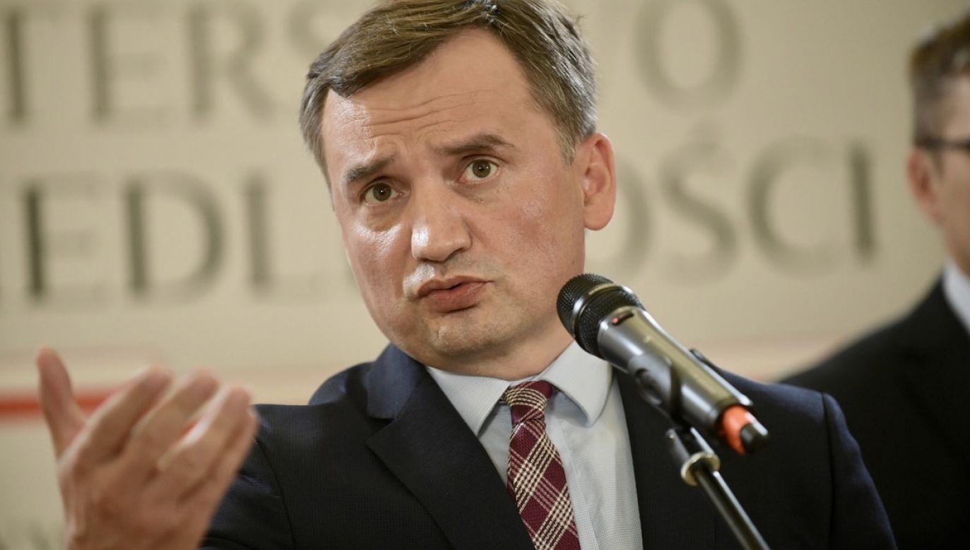 Prokurator generalny i minister sprawiedliwości Zbigniew Ziobro (fot. PAP/Marcin Obara)