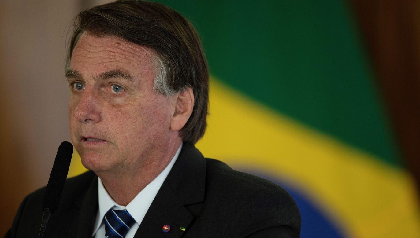 Jair Bolsonaro groził gubernatorom, którzy wprowadzali lockdown (fot. PAP/EPA/Joedson Alves)