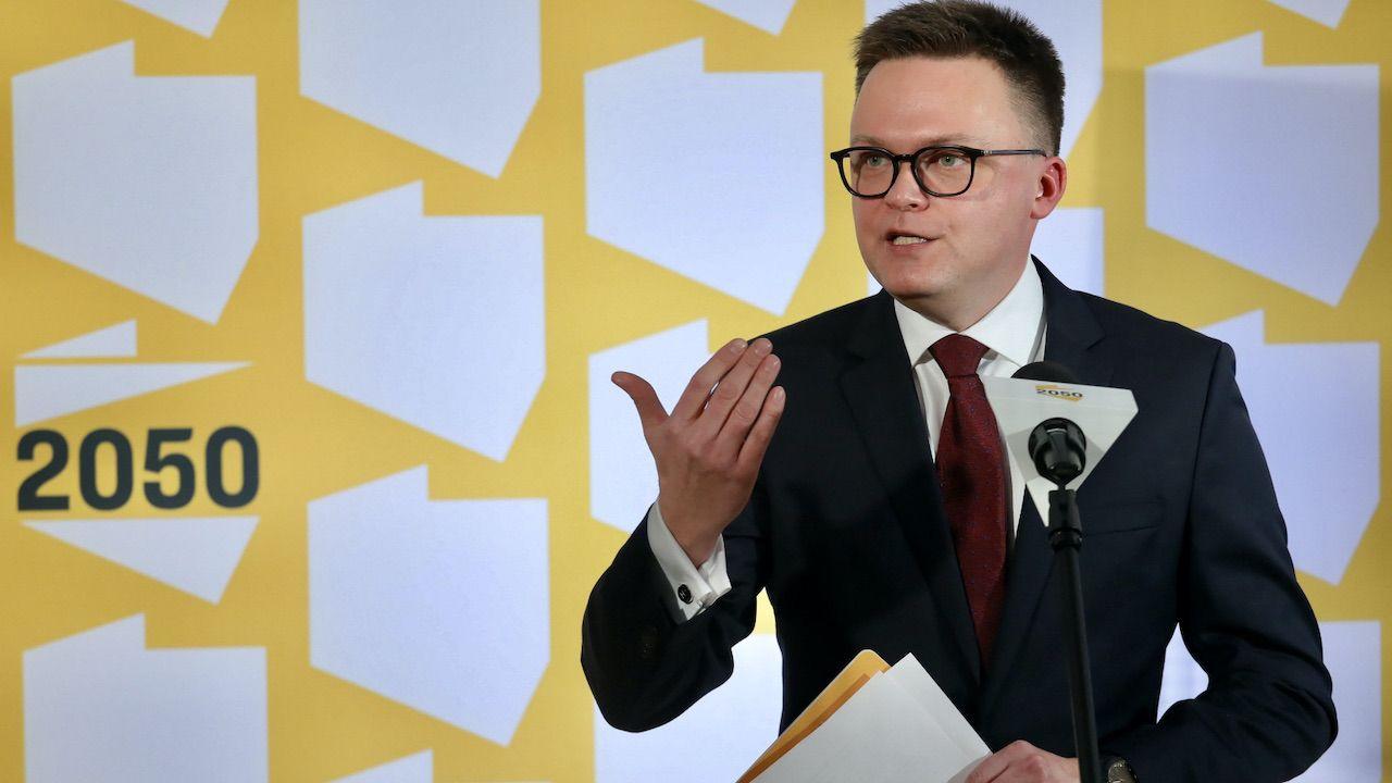"""""""Opowieści Hołowni są wyssane z palca"""" (fot. PAP/Paweł Supernak)"""