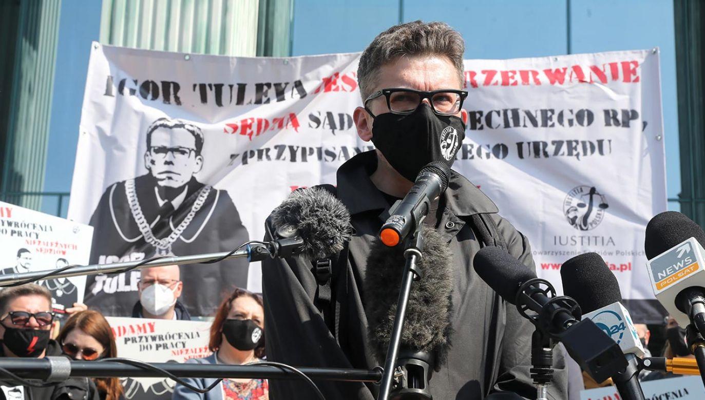 Sędzia Igor Tuleya (fot. PAP/Tomasz Gzell)