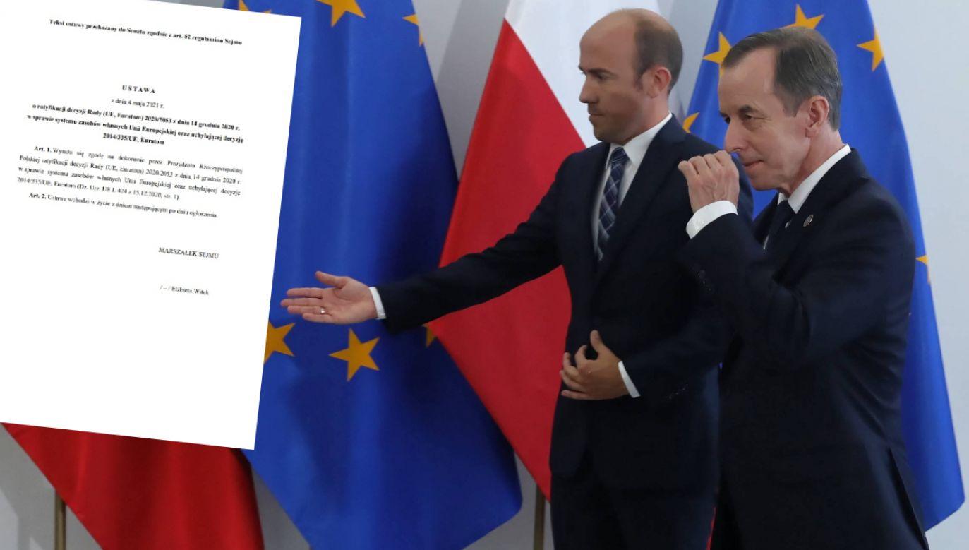 Marszałek Senatu Tomasz Grodzki nie spieszy się z ratyfikacją Funduszu Odbudowy (fot. PAP/Tomasz Gzell, Sejm.gov.pl