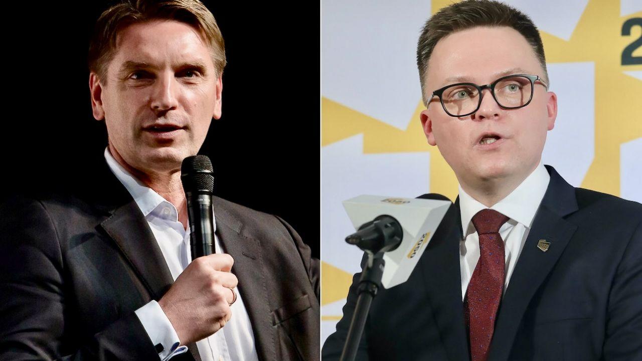 Tomasz Lis (z lewej) i Szymon Hołownia (fot. M.Wlodarczyk/NurPhoto/Getty Images, arch.PAP/P.Supernak)