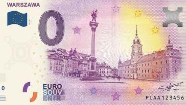 Banknot 0 Euro Souvenir to projekt, który został zapoczątkowany w 2015 roku we Francji (fot. Warszawska Giełda Kolekcjonerska)