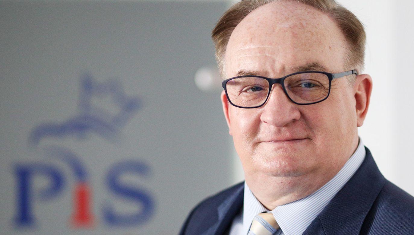 Europoseł PiS Jacek Saryusz-Wolski (fot. Forum/Andrzej Hulimka)
