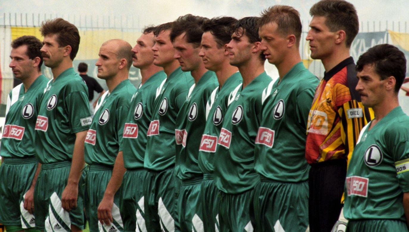 Piłkarze Legii Warszawa w sezonie 1994/95 (fot. PAP)