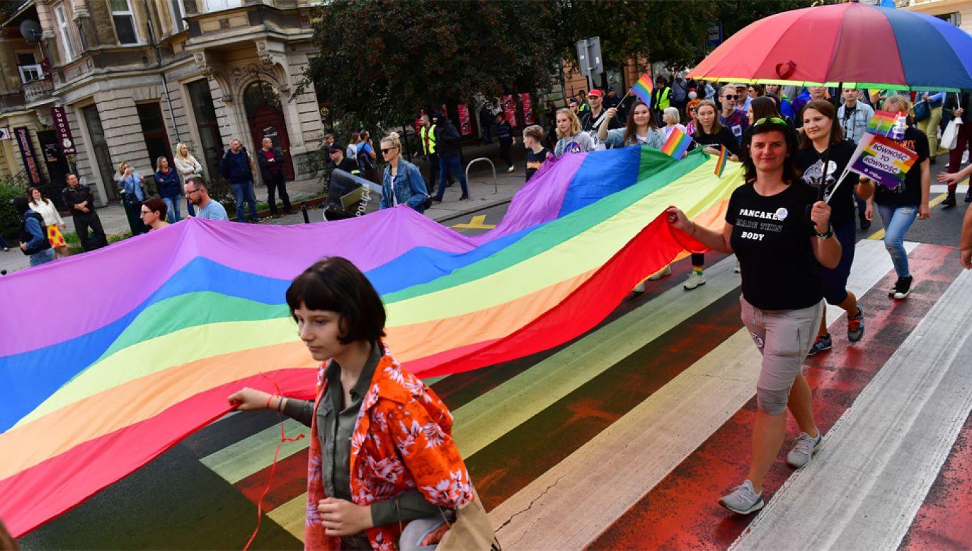Politycy wykorzystują środowiska LGBT w kampanii wyborczej (fot. PAP/Marcin Bielecki)