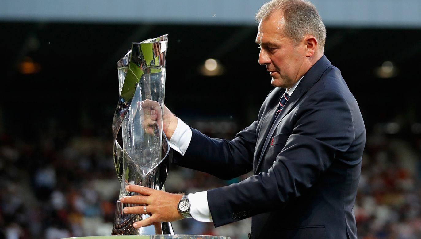 Marek Koźmiński od ośmiu lat jest wiceprezesem federacji (fot. Boris Streubel - UEFA/UEFA via Getty Images)