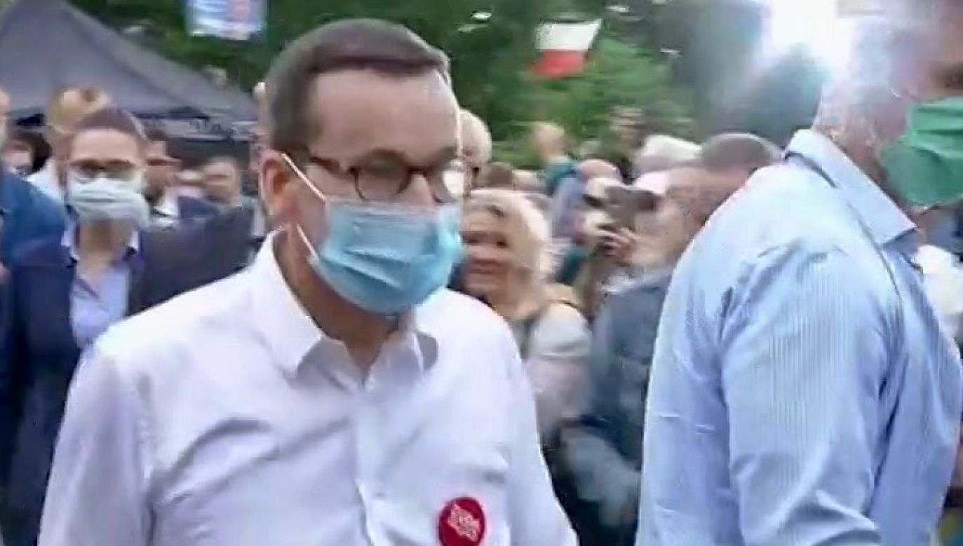 Premier Mateusz Morawiecki spotkał się z wyborcami w Koszalinie (fot. TVP3)