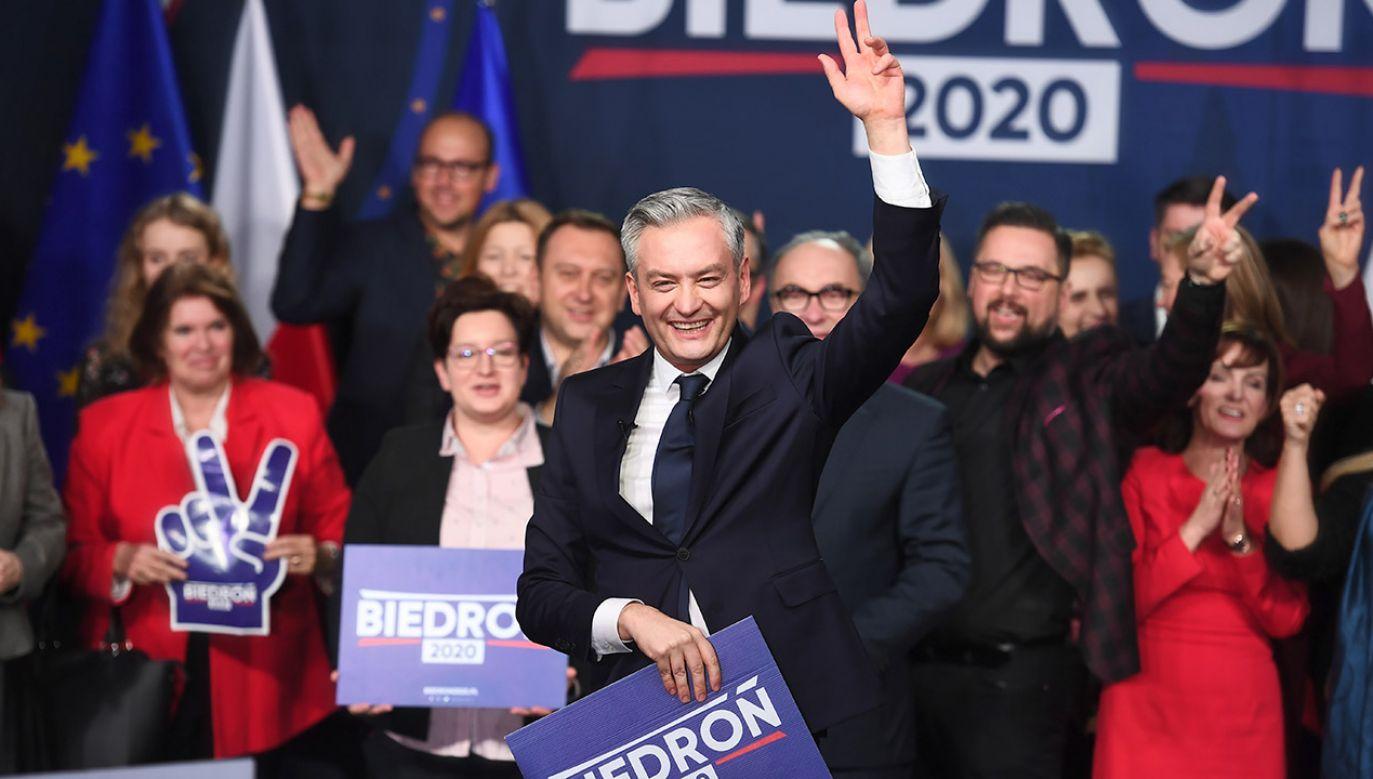 Biedroń zapewnił, że w razie wyboru, podejmie szereg inicjatyw ustawodawczych (fot. PAP/Marcin Gadomski)