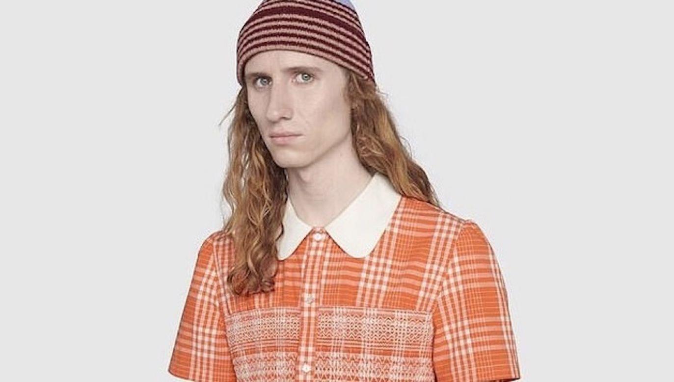 W inspirowanym grunge'owa stylistką rodem z lat 90. elemencie garderoby nie byłoby zapewne nic szokującego, gdyby nie fakt, że Gucci dedykuje go mężczyznom (fot. Materiały prasowe)