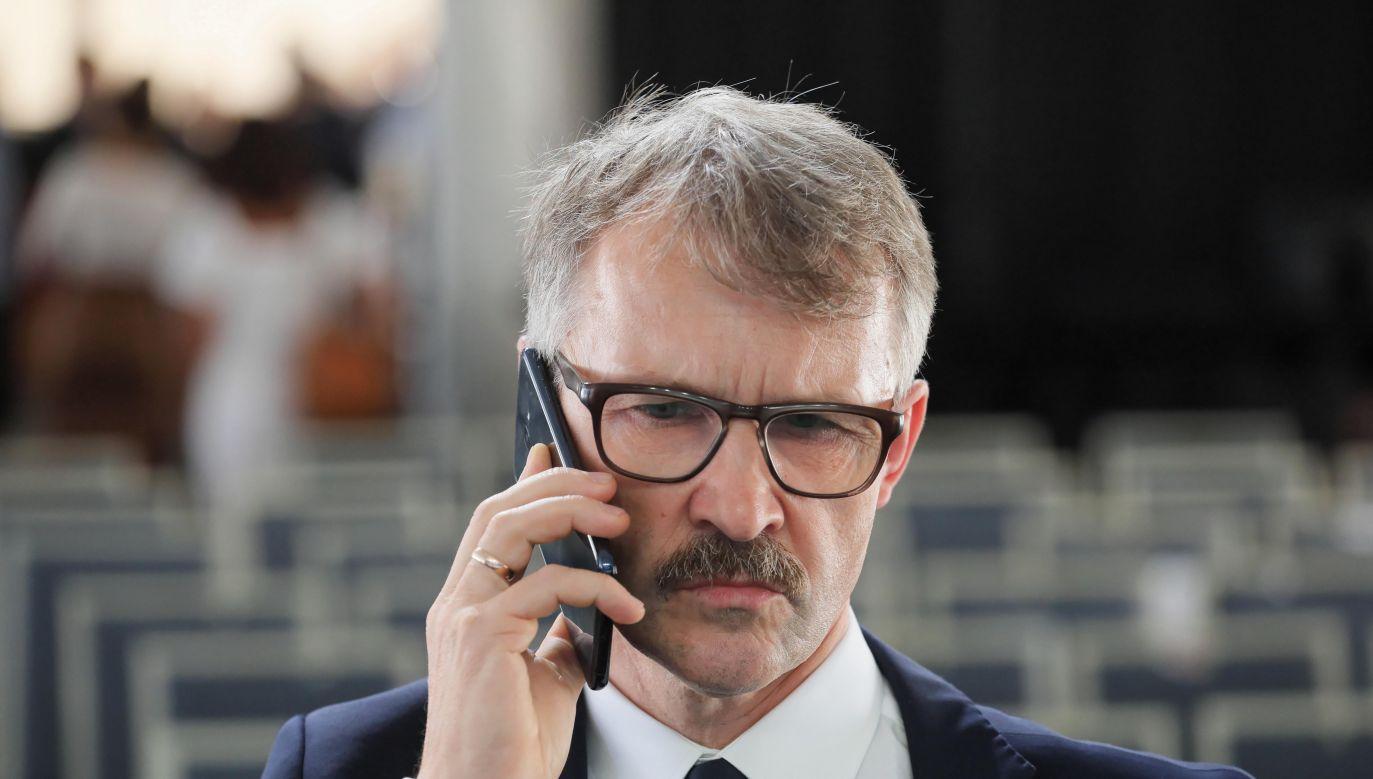 Przewodniczący Krajowej Rady Sądownictwa Leszek Mazur (fot. PAP/Paweł Supernak)