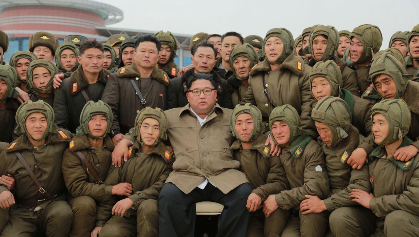 Kim Dzong Un mówił, że chodzi o poprawę gotowości bojowej (fot. PAP/EPA/KCNA)