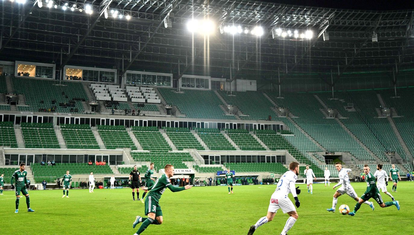 The stadium in Wrocław, south-west Poland, which is the venue of Śląsk Wrocław team's matches. Photo: PAP/Sebastian Borowski