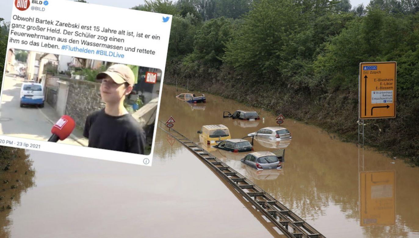 Wielka powódź w Niemczech (fot. Getty Images, tt/@BILD)