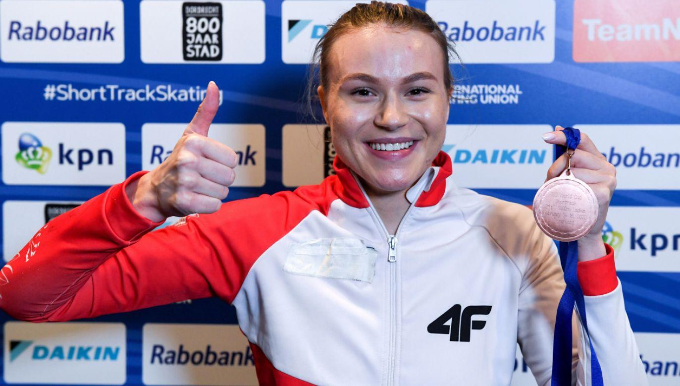 Natalia Maliszewska zajęła w Dordrechcie trzecie miejsce na 1000 m  (fot. PZŁS/Paweł Skraba)