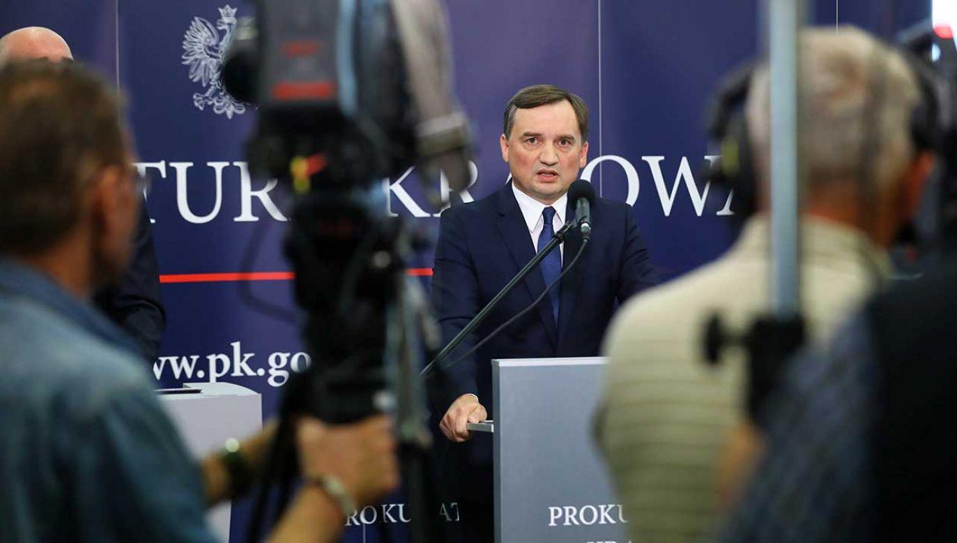Minister sprawiedliwości Zbigniew Ziobro (fot. PAP/Rafał Guz)