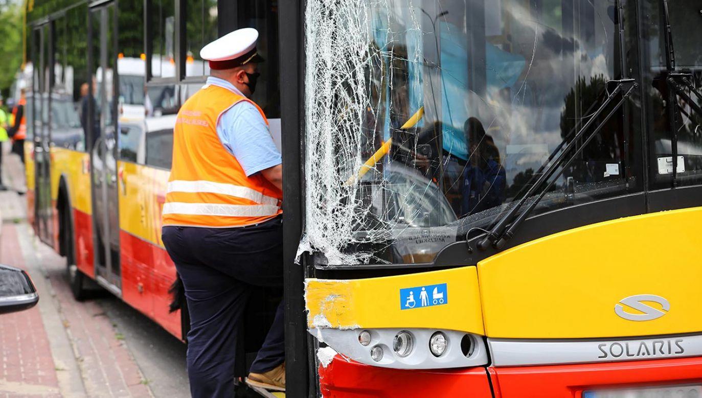 Kierowca autobusu był trzeźwy (fot.  PAP/Rafał Guz)
