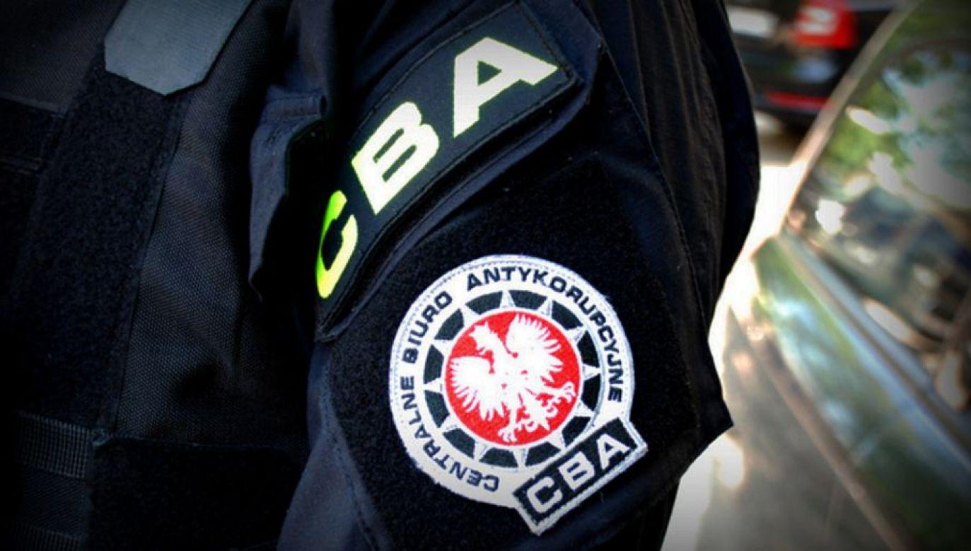 To kolejna osoba zatrzymana w tym śledztwie przez CBA (fot. CBA)