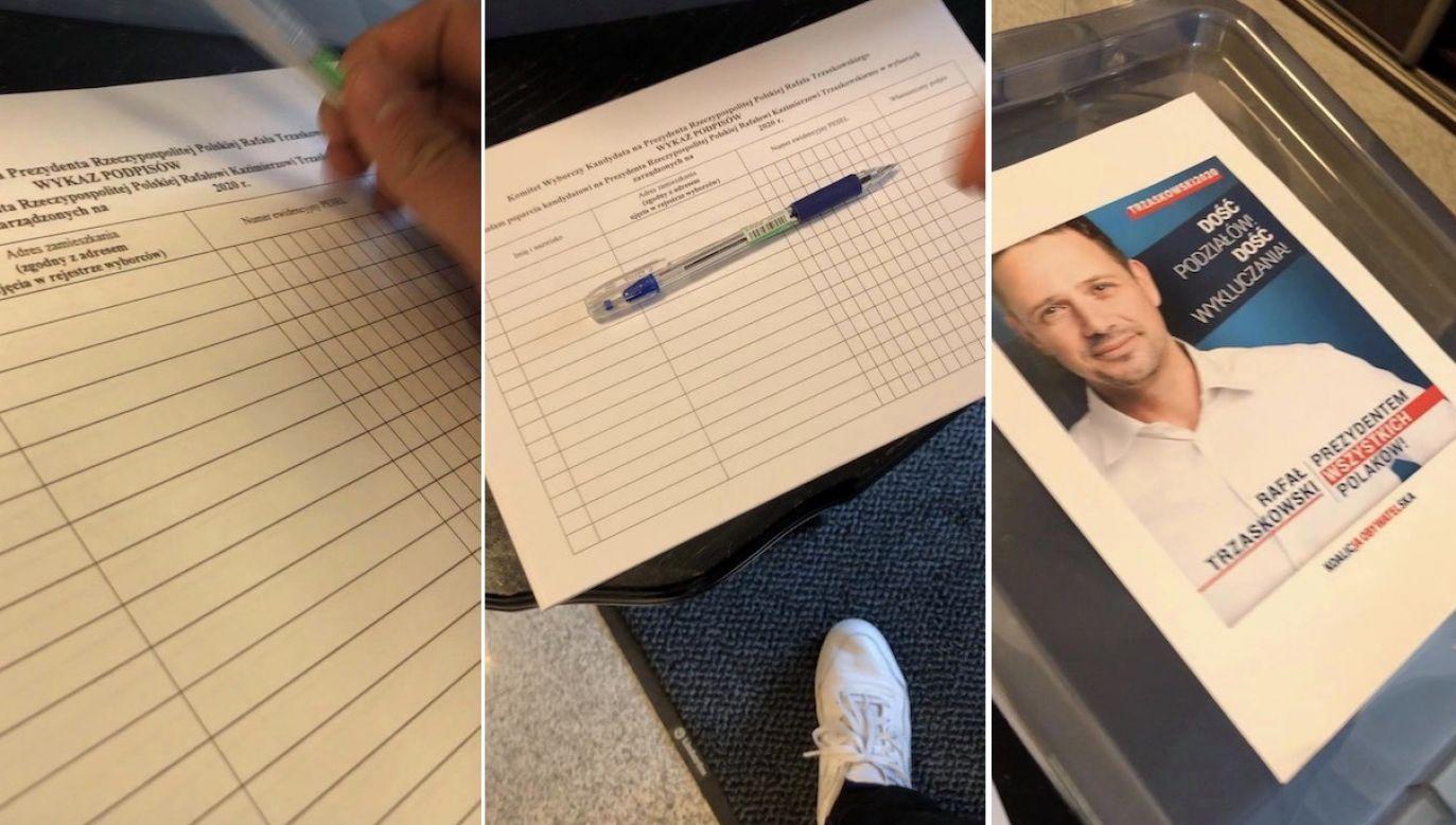Sprawdziliśmy jedno z miejsc nielegalnej zbiórki podpisów (fot. TVP Info)