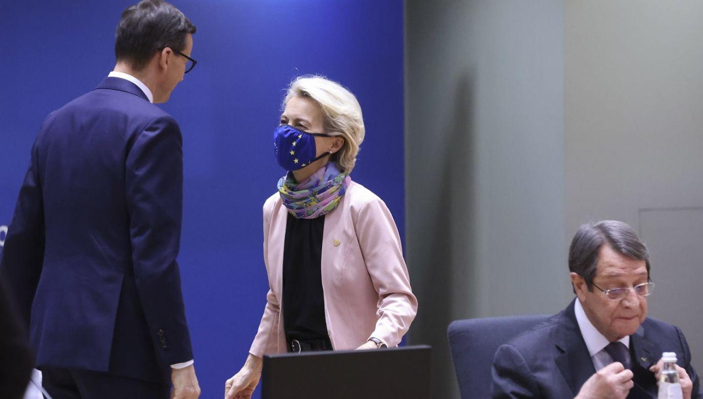 Premier Mateusz Morawiecki zwrócił uwagę na manipulacje rynkowe Gazpromu (fot. PAP/EPA/Yves Herman)