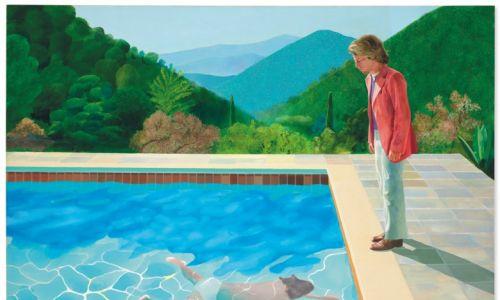 """Drugie miejsce należy do płótna """"Portrai of an Artist"""" pędzla Davida Hockney'a. Dzieło poszło za 90,3 mln dolarów. Fot. Dom aukcyjny Christie's"""
