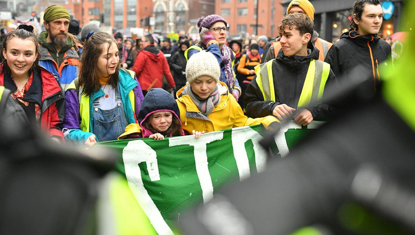 Greta Thunberg deklaruje walkę z globalnym ociepleniem (fot. Ben Birchall/PA Images via Getty Images)