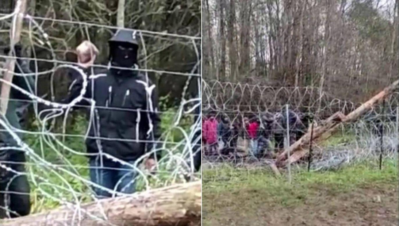 Nielegalni imigranci próbowali sforsować granicę (fot. Straż Graniczna)
