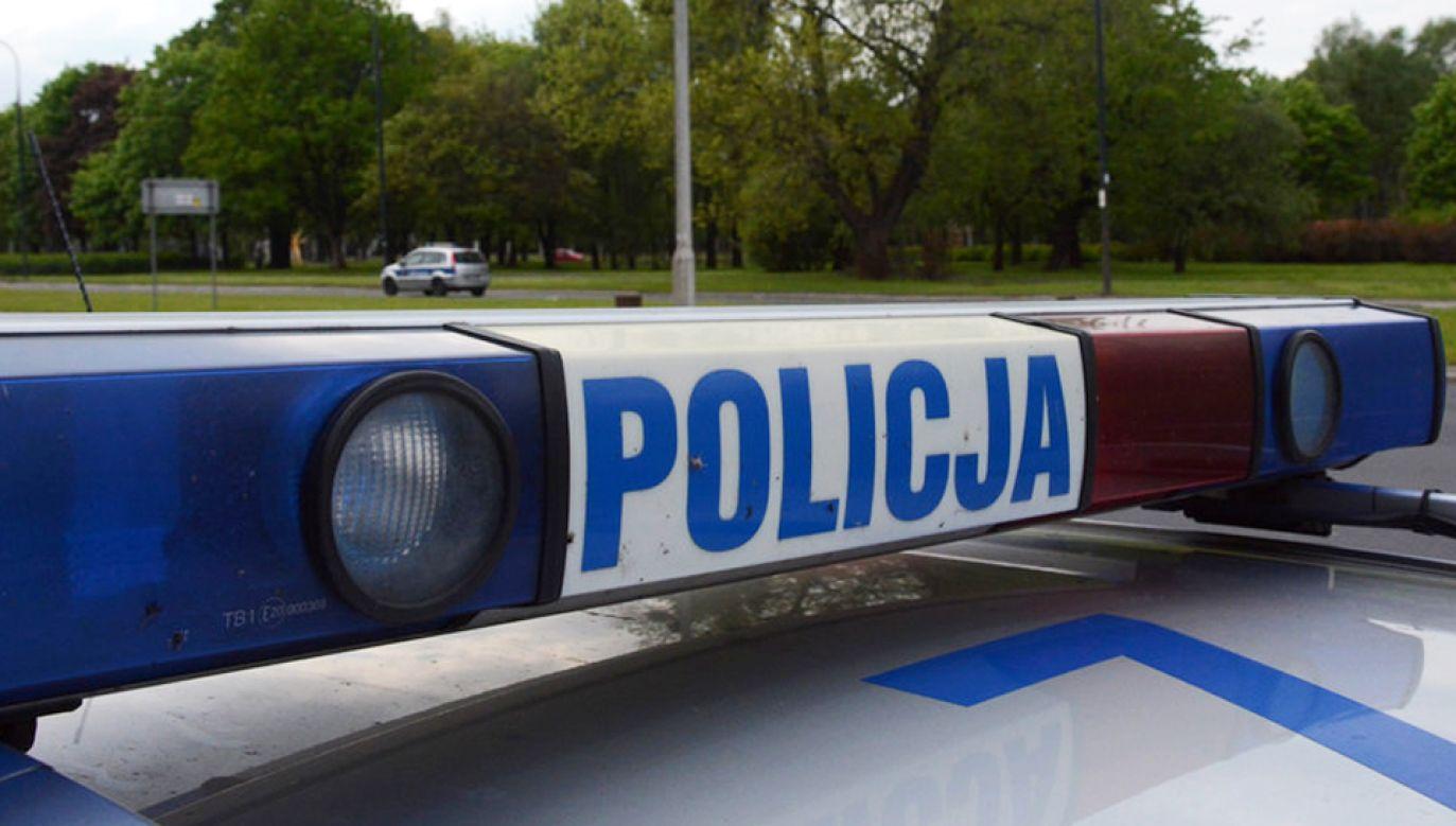 Jadący samochodem Suzuki starszy mężczyzna prawdopodobnie stracił panowanie nad kierownicą (fot. Policja)
