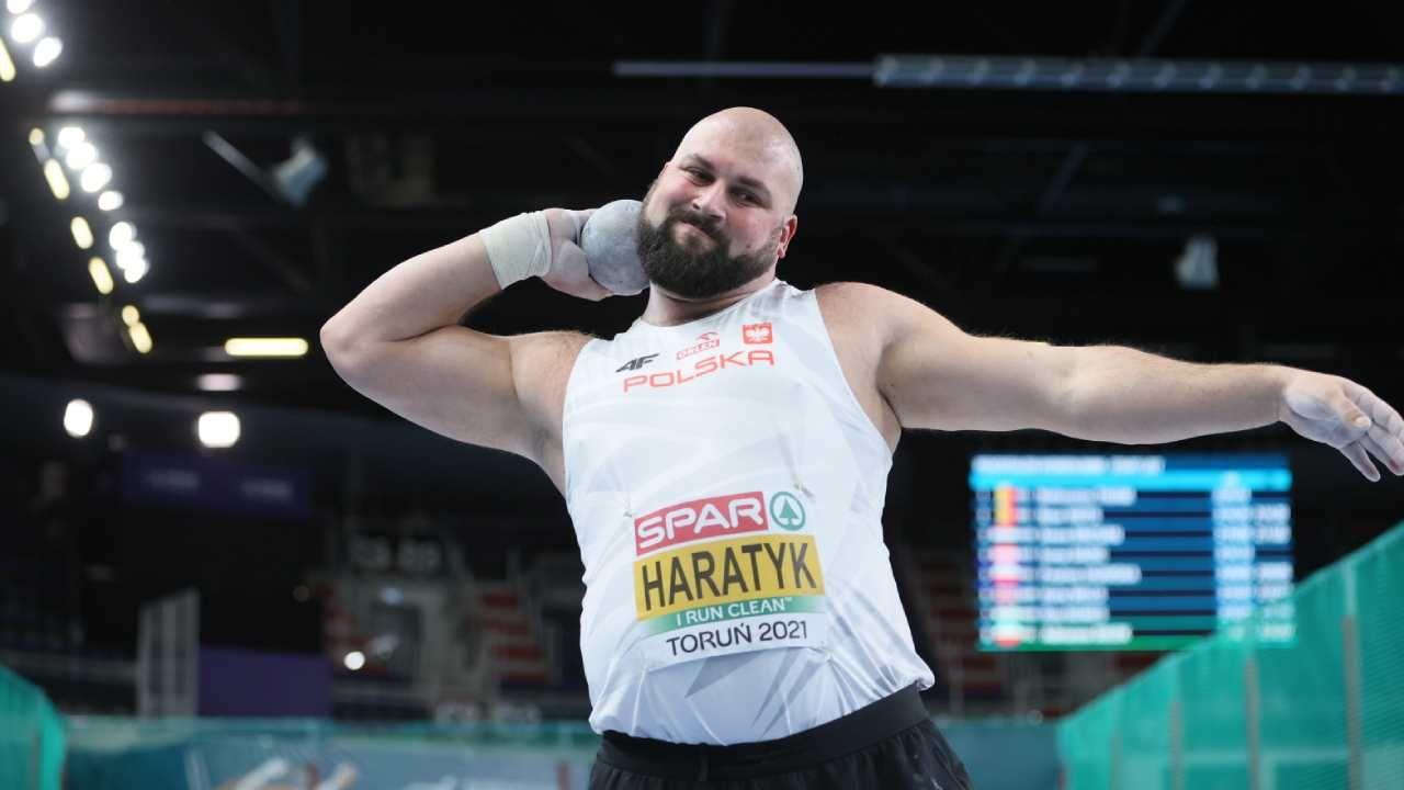 Michał Haratyk zdobył srebrny medal halowych mistrzostw Europy w Toruniu (fot. PAP/Leszek Szymański)