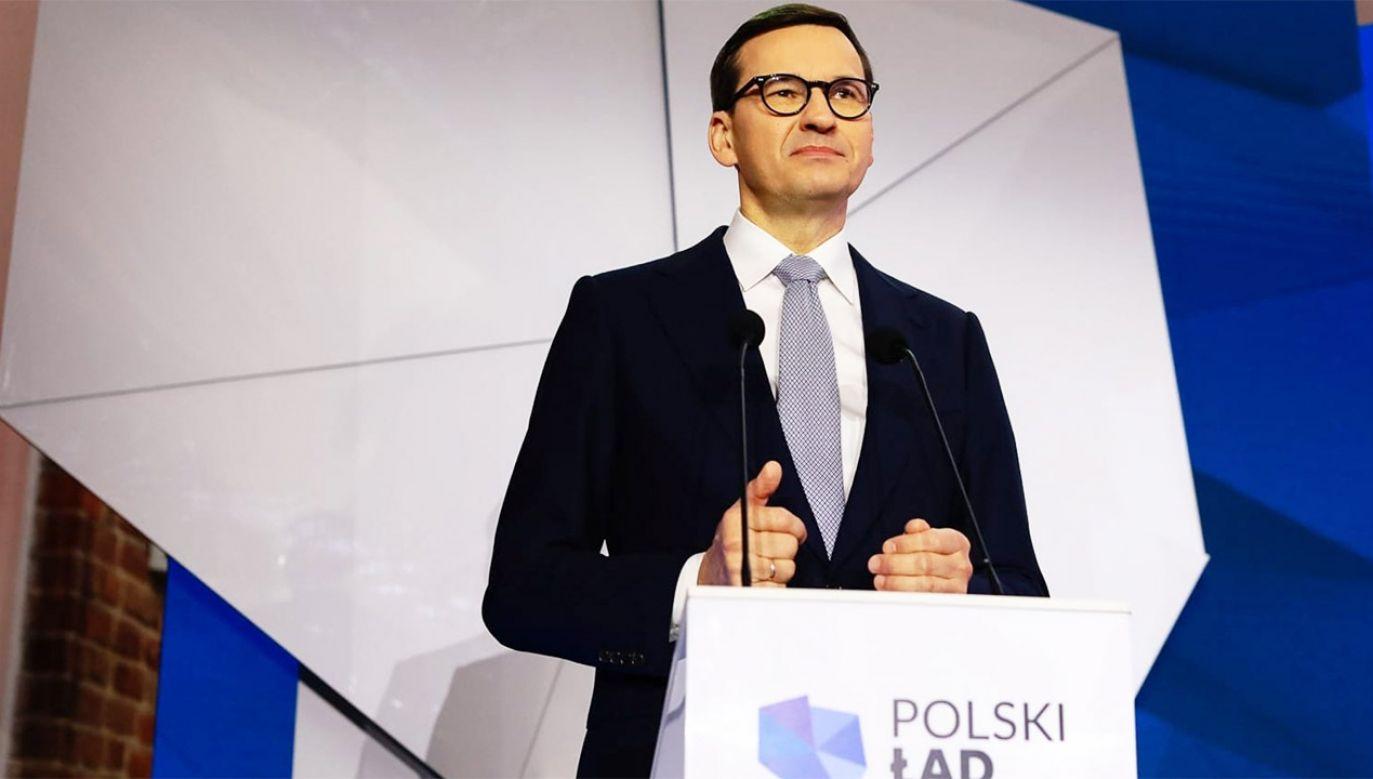 Konferencja premiera Morawieckiego (fot. KPRM)