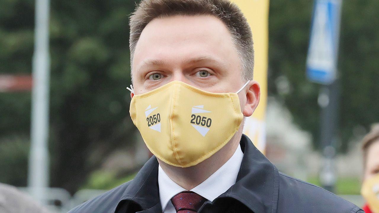 Co o jawności finansowania działalności politycznej mówił Szymon Hołownia? (fot. PAP/Paweł Supernak)