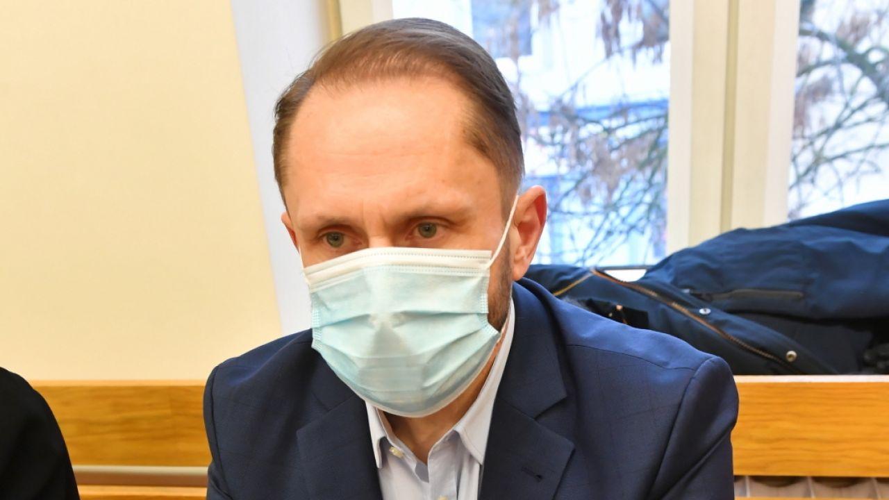 Kamil Durczok na sali Sądu w Piotrkowie Trybunalskim (fot. PAP/Grzegorz Michałowski)