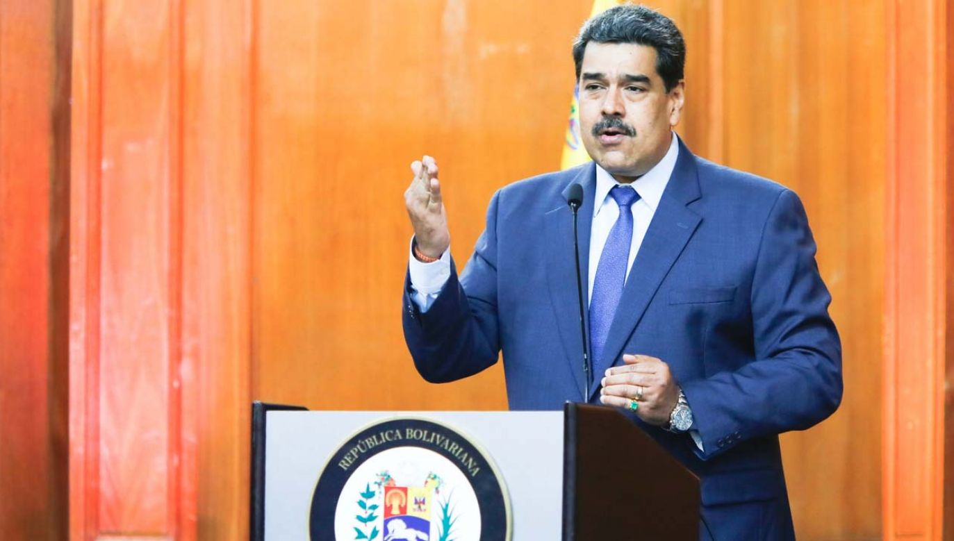 Prezydent Wenezueli Nicolas Maduro (fot. PAP/EPA/Miraflores Palace Press Office HANDOUT)