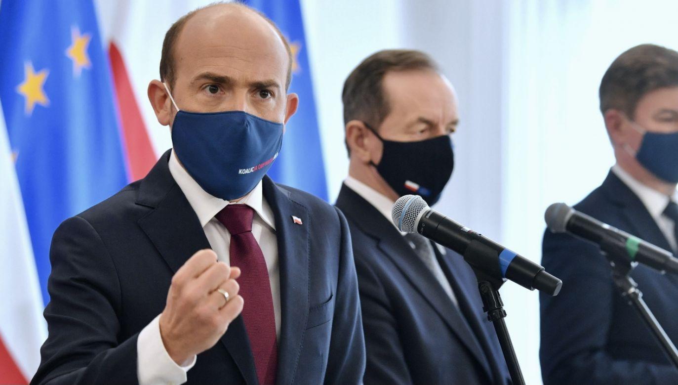 """Dla Borysa Budki postawa Lewicy była """"zimnym prysznicem"""" (fot. PAP/Radek Pietruszka)"""