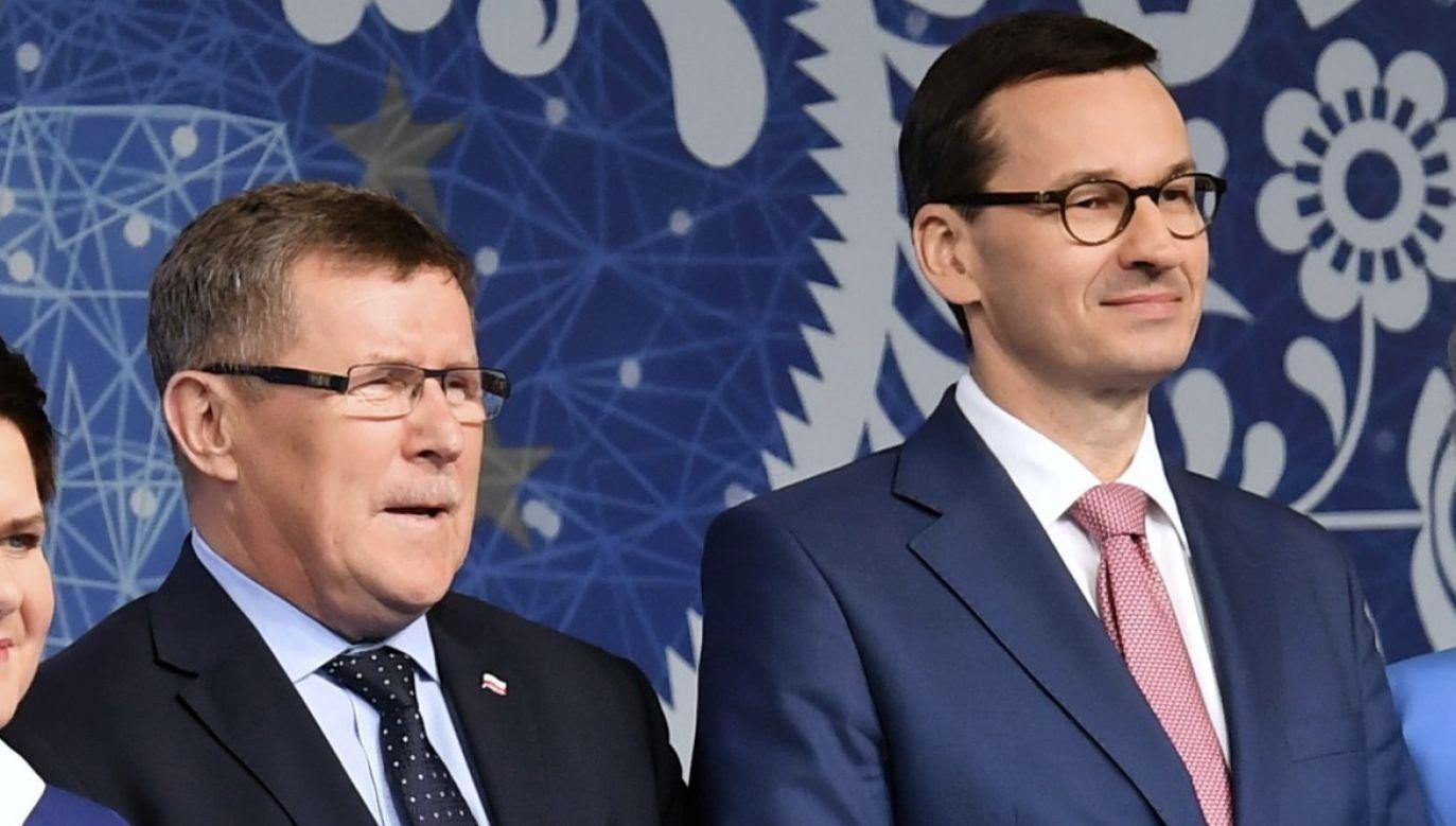 Zbigniew Kuźmiuk i Mateusz Morawiecki (fot. Arch.PAP/Piotr Nowak)