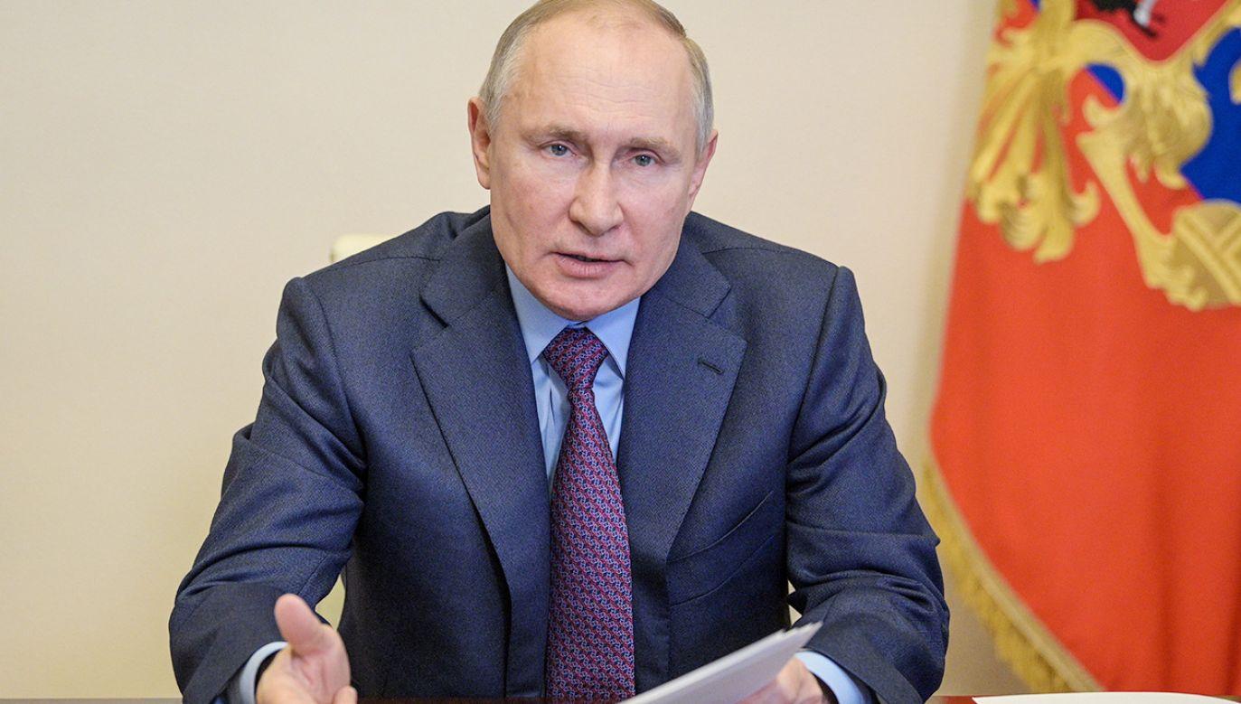 Prezydent Rosji Władimir Putin (fot. PAP/EPA/ALEXEI DRUZHININ / SPUTNIK / KREMLIN POOL)