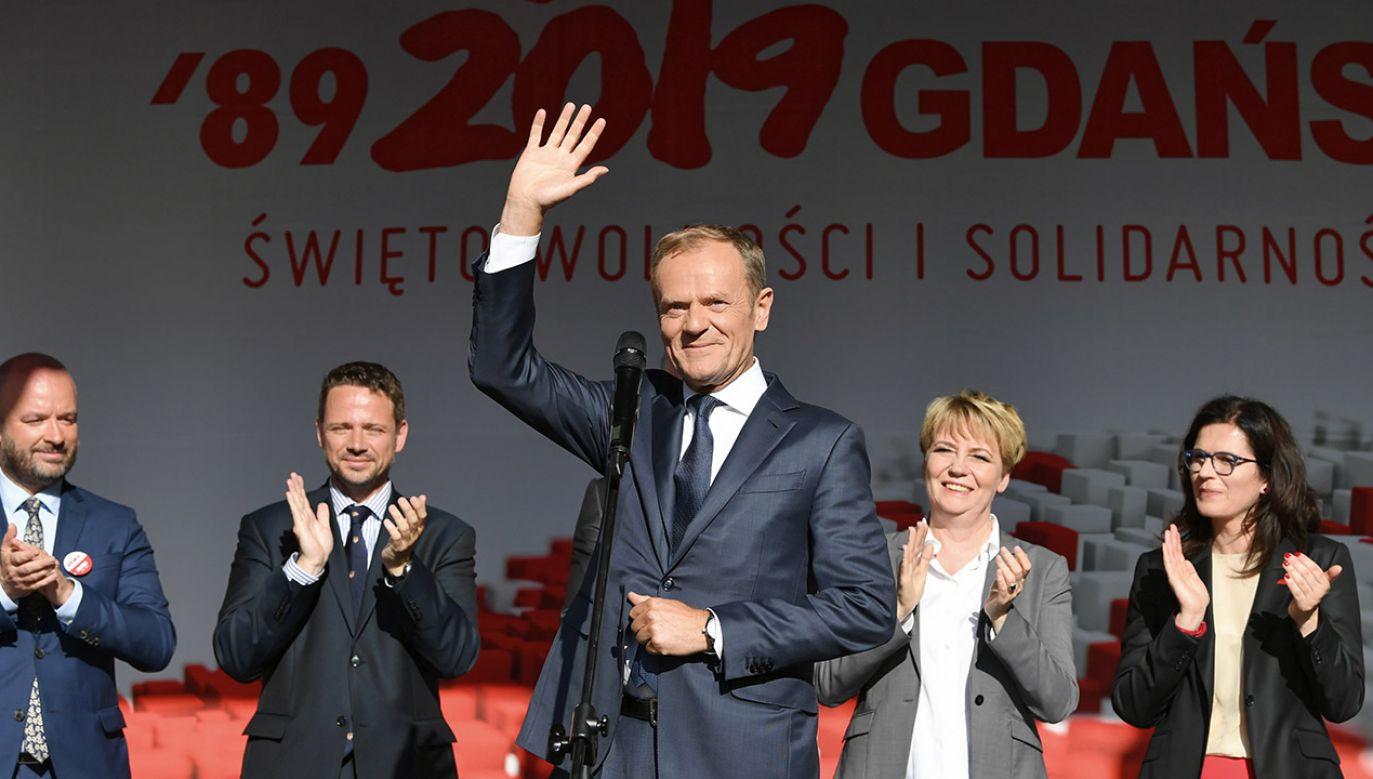 """""""Tusk kilkukrotnie przywołał nie rok 1980, lecz ostatnią falę strajków w PRL"""" (fot. PAP/Adam Warżawa)"""