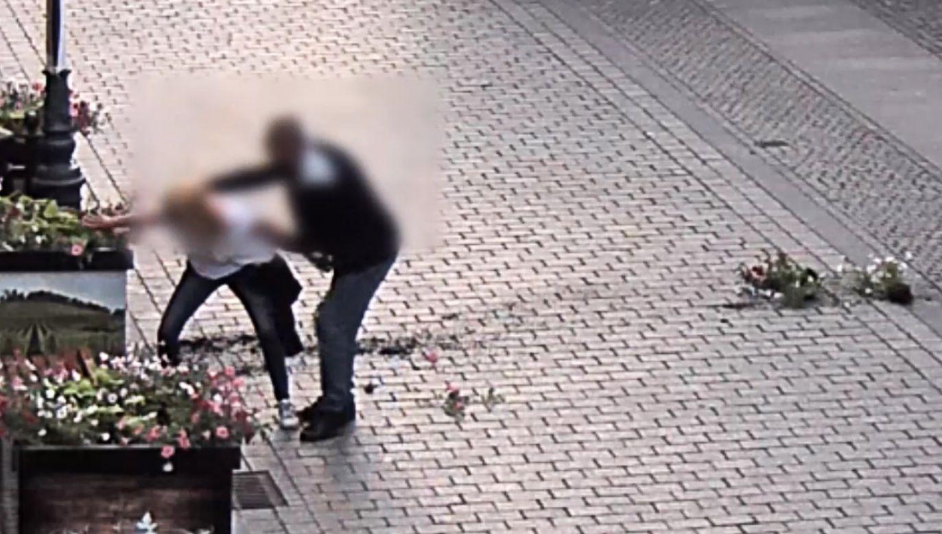 42-latka zniszczyła miejskie rabatki (fot. lubuska policja)