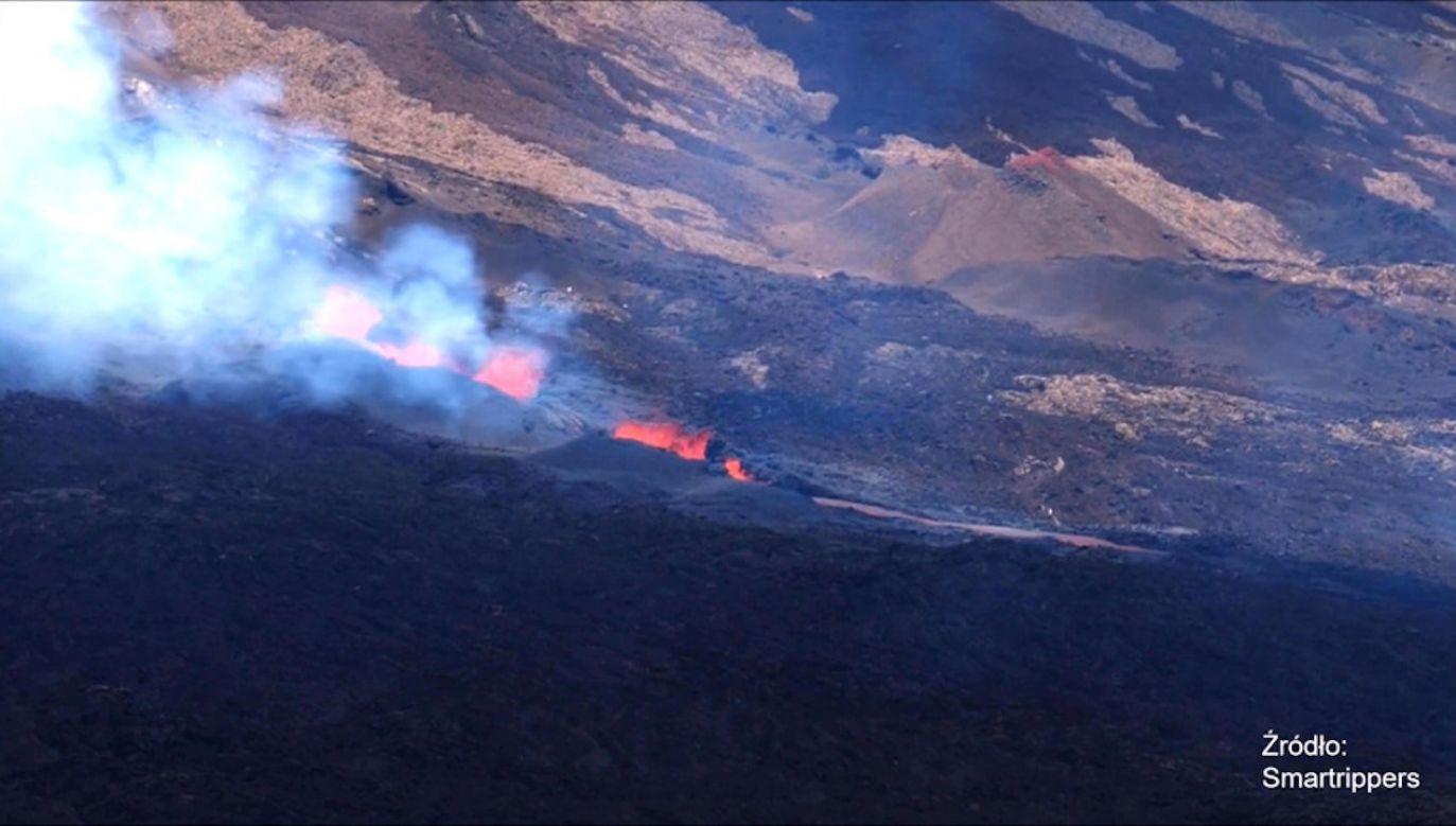 Kolejna erupcja wulkanu na Piton de la Fournaise w tym roku (fot. EBU/Smartrippers)