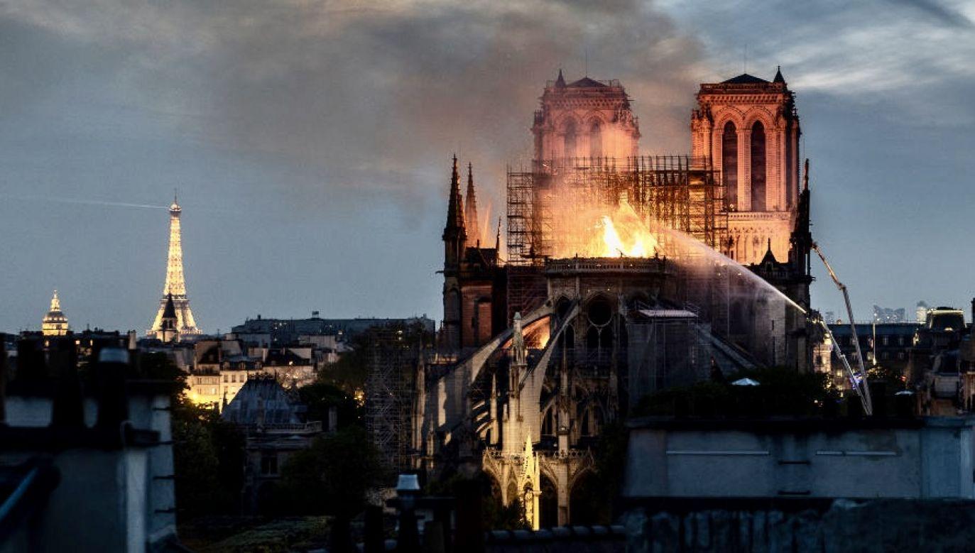 Katedra spłonęła 15 kwietnia 2019 r. (fot. Veronique de Viguerie/Getty Images)