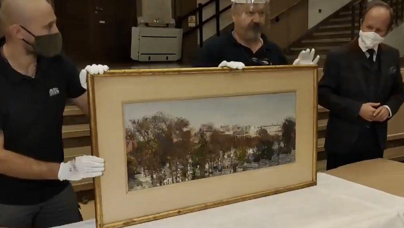 Obraz ma trafić do pracowni konserwacji, a za kilka miesięcy będzie go można oglądać w Galerii Sztuki Polskiej XIX wieku w Sukiennicach (fot. tt/@natgrygny)