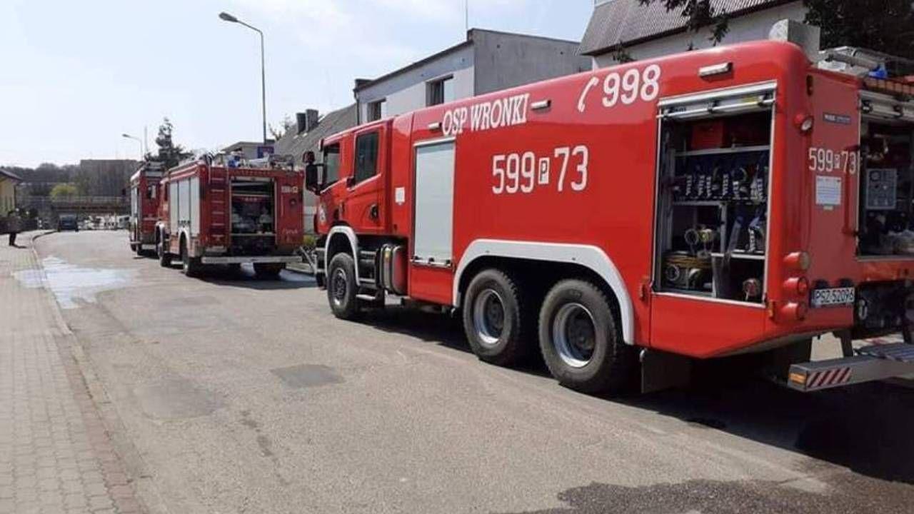 Na miejscu interweniowali m.in. strażacy z OSP Wronki (fot. OSP Wronki)