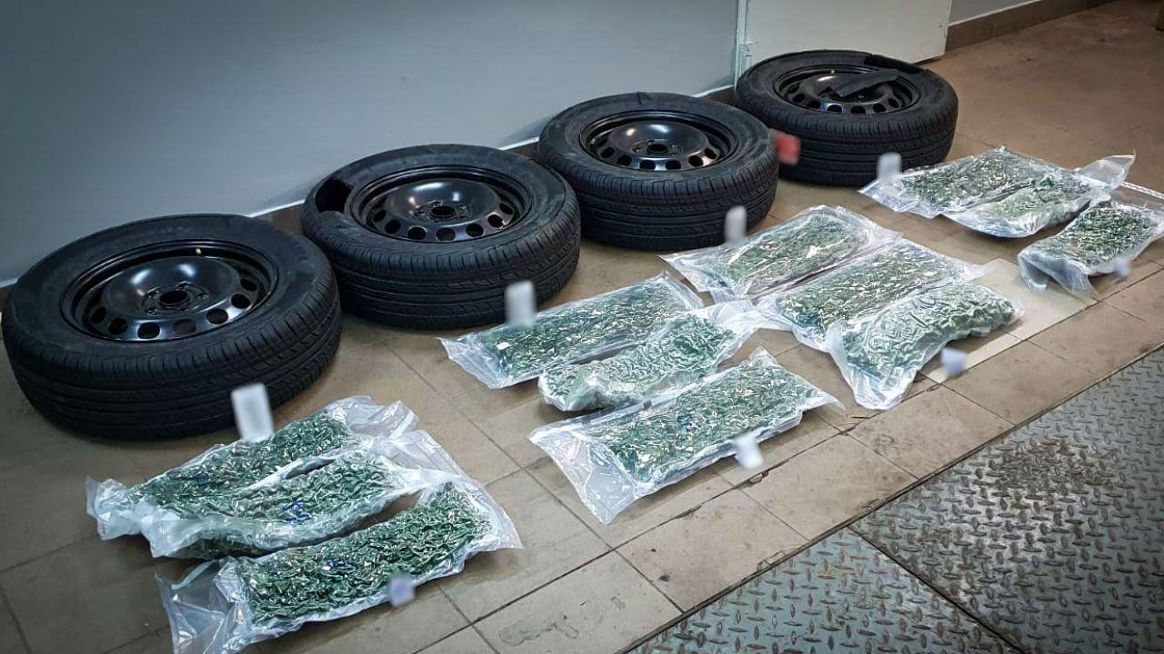 Funkcjonariusze przejęli dostawę marihuany z Hiszpanii (fot. CBŚP)