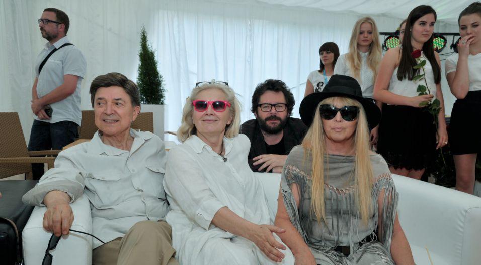 Jerzy Połomski, Magda Umer, Grzegorz Turnau i Maryla Rodowicz (fot. Ireneusz Sobieszczuk/TVP)